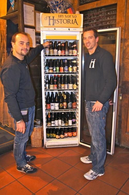 La vasta scelta di birre in bottiglia