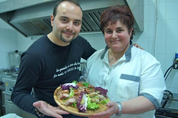 Mario D'Addio e la Cuoca Anna Mongillo